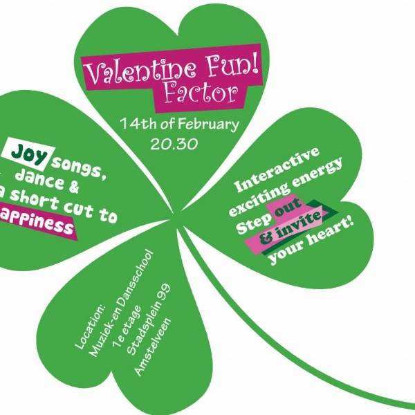 Valentine Fun!Joy, songs, dance and happiness. Interactive exciting energy! | Amstelveen