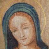 Icoon schilderen met softpastel op hout.   Culemborg